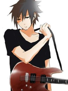 Sasuke Uchiha with guitar Sasunaru, Boruto, Shikatema, Sasuhina, Narusasu, Shikamaru, Sasuke Uchiha, Hinata, Sasuke Shippuden