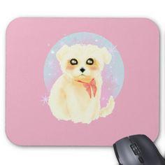 #Kawaii Maltese Puppy Dog Mouse Pad - #maltese #puppy #dog #dogs #pet #pets #cute