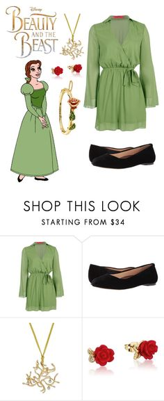 """""""Belle"""" by disneylover05 ❤ liked on Polyvore featuring Boohoo, Walking Cradles and Disney"""