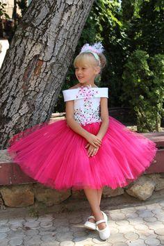 Pink Flower Girl Dress Birthday Wedding Party by Butterflydressua