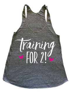 training for 2 tank pregnant workout tank preggo by PerfShirts