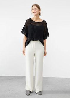 Ruffled plumeti blouse - Shirts  Plus sizes | Violeta by MANGO USA