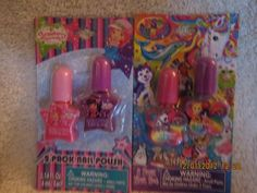 2 Pack Nail Polish by American Greetins. $2.99. Each Polish is 0.14 fl oz.. Also Includes 1 Set of Lisa Frank Nail Polishes. Includes 1 Set of Strawberry Shortcake Nail Polishes. NEW in Package! 2 SETS Included: (1) set of STRAWBERRY SHORTCAKE 2 Pack NAIL POLISH. Each Polish is 0.14 fl oz. Includes 1 Pink & 1 Purple. AND (1) set of LISA FRANK same size as above. For Ages 3+. Ships from PA. Lisa Frank, Nail Polishes, Strawberry Shortcake, Party Games, Purple, Pink, Party Supplies, Ships, American