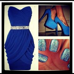 Love this royal blue dress..