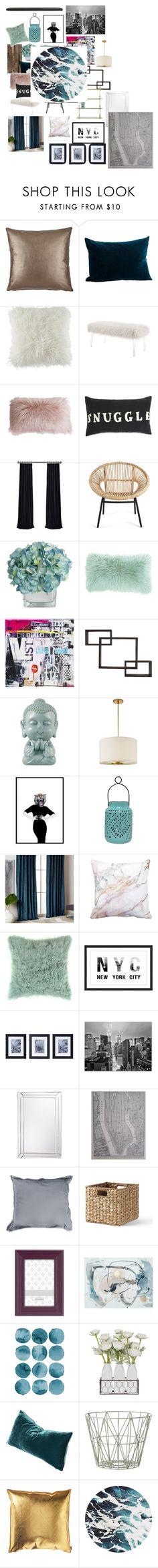 """Untitled #2105"" by bucketlistdiary on Polyvore featuring interior, interiors, interior design, home, home decor, interior decorating, Barneys New York, BCBGeneration, Linon and Danya B"