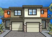 Duplex House Plan For The Small Narrow Lot