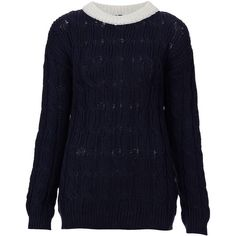 Vertical Cable Knit Jumper By Boutique ($60) ❤ liked on Polyvore