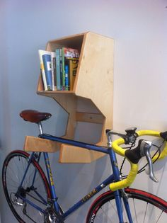 Amazing Wood Hanging Bike Rack Birch Plywood Bike Shelf Bike Storage System Large Storage Space Bookshelf Fixie Bicycle Hanger Wall Mounted Design Modern Home Furniture Ideas Cool Wooden Bike Rack Furniture Hanging Bike Rack, Bicycle Hanger, Diy Bike Rack, Bicycle Storage, Modern Home Furniture, Plywood Furniture, Cool Furniture, Bike Storage Systems, Range Velo