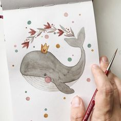 Watercolor Animals, Watercolour Painting, Painting & Drawing, Nursery Drawings, Art Drawings, Art Mignon, Cactus Drawing, Happy Paintings, Cute Illustration