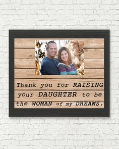 Items similar to Thank you for RAISING your SON to be the MAN of my dreams - gift for future mother In law - thank you print - personalized gift from bride on Etsy Father In Law Gifts, Father Of The Bride, Mother Gifts, In Law Christmas Gifts, Creative Mother's Day Gifts, Bride Gifts, Picture Wall, Wedding Accessories, The Man