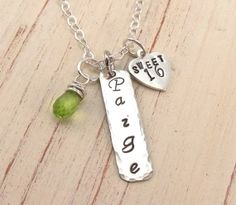 Sweet 16 Necklace Hand Stamped on Sterling Silver by TNine Design, $48.00