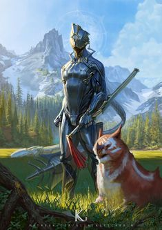 Traditional Paintings, Traditional Art, Fantasy Character Design, Character Art, Warframe Wallpaper, Warframe Art, Sci Fi Armor, Cyberpunk Character, Fantasy Weapons