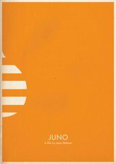 Juno - Minimal Movie Poster by Brett Thurman Best Movie Posters, Minimal Movie Posters, Minimal Poster, Cool Posters, Simple Poster, Alternative Movie Posters, Grafik Design, Minimalist Art, Illustrations Posters