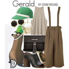 Gerald by leslieakay on Polyvore featuring TIBI, Givenchy, River Island, Cole Haan, Sam Edelman, Hermès, disney and disneybound