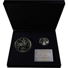 60 Euro Silber 10 Jahre Euro Bargeld - Set PP