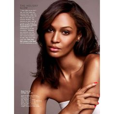Joan Smalls by Jonas Bresnan for Glamour UK June 2013 ❤ liked on Polyvore featuring joan smalls