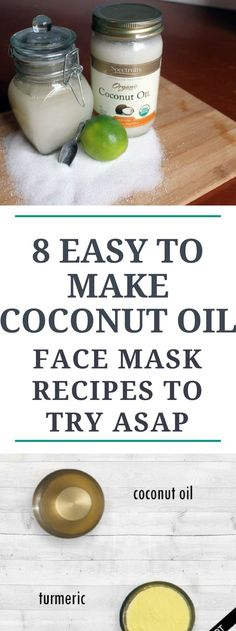 8 Easy to Make Coconut Oil Face Mask Recipes to Try ASAP.. Miracle..!!! #coconutoilWeightloss