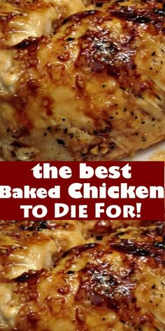 The Best Baked Chicken to Die For! the best Baked Chicken to Die For! Baked Brown Sugar Garlic Chicken is the best and juicy chicken ever. It is baked to crisp-tender perfection and ready. Baked Chicken Recipes, Turkey Recipes, Meat Recipes, Crockpot Recipes, Cooking Recipes, Easy Baked Chicken, Yummy Recipes, Baked Chicken Breast, Portuguese Recipes
