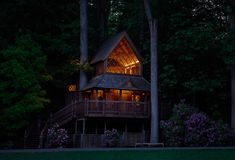 bruce munro: light at longwood gardens treehouse with faux candles