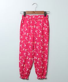 Pink Heart Harem Pants - Girls