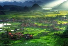 Bamei Village. Lush farmlands. 10 Amazing Places You Should Visit in China's Yunnan Province http://www.visiontimes.com/2015/05/01/10-amazing-places-to-visit-in-chinas-yunnan-province.html