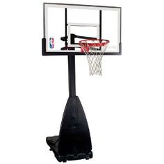 Spalding 54 Inch Glass Pro-Tek Portable Basketball Hoop System - Literally take your game to a whole new level with the height-adjustable Spalding 54 Inch Glass Pro-Tek Portable Basketball Hoop System . Cyo Basketball, Mini Basketball Hoop, Street Basketball, Basketball Pictures, Love And Basketball, Basketball Shoes, Basketball Court, Spalding Portable Basketball Hoop, Basketball Backboard