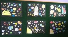 How we imagine SPACE?  #space #universe #craft #diy #moon #sun #planets #drawing #collage #kids #school