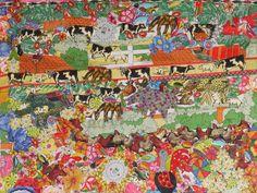 'Revolução dos Bichos', um dos quadros de Tetê Brandolim (Foto: Arquivo/Plantária Soluções Sustentáveis)