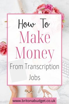 Do you want to work from home but you're not sure where to start? If you have great listening and typing skills, then transcription jobs may be the best place to begin and you can make money from home. Make Money Blogging, Make Money From Home, Money Saving Tips, Frugal Family, Family Budget, Ways To Save Money, How To Make Money, How To Become, Typing Skills