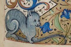 たまに鼠を見てもボーっとしている猫っていますよね。 15世紀 BLB Karlsruhe 3118 f.92r