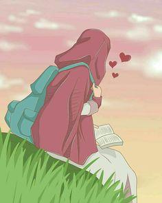 No photo description available. Cute Muslim Couples, Muslim Girls, Muslim Pictures, Dp Pictures, Hijab Drawing, Islamic Cartoon, Anime Muslim, Hijab Cartoon, Islamic Girl