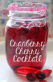 Cranberry cherry cocktail. I must make this yummy drink tonight!