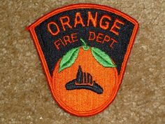 Old Style Orange City Fire Dept Patch Orange County Ca Firefighter
