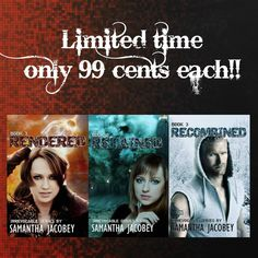 ~  99 cent SALE ends today ~ Part suspense thriller, part love story - the world is broken... Spinning towards disaster, only the strong will survive. Bailey and Caleb have a chance to make it and a duty to save their family and friends. But can they keep it together when everything else is falling apart? Available in Ebook, Paperback, AUDIO, and FREE with KU!! RENDERED – hyperurl.co/vjofkq  RETAINED – hyperurl.co/1pbhs6 RECOMBINED hyperurl.co/m09q9t #thriller #suspense #SweetRomance #SamJac