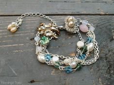 DIY Anthro Lantana Brooch Bracelet