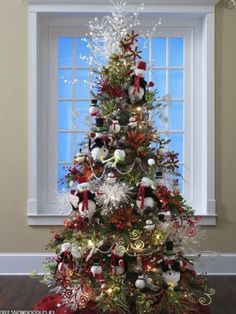 Snow Doll Theme Christmas Trees Decorating Ideas Pictures