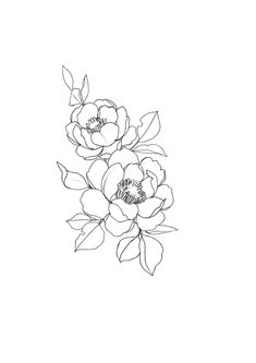 15 New ideas for drawing simple flowers ink Trendy Tattoos, New Tattoos, Small Tattoos, Cool Tattoos, Drawing Tattoos, Tattoo Outline Drawing, Tatoos, Outline Art, Drawing Quotes