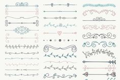 60% OFF! Hand Drawn Dividers, Arrows - Illustrations