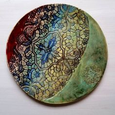New wall art ceramic plate,  multicolored ❤ for interior style of home or of office - - - #ceramicart #wallart #homestyling #homedecor #interiorstyling #pattern #artwork #makersgonnamake #interiorandhome #contemporary #artdesign #modern #wallsculpture #designinterior #clayart #lacepottery #artdeco #inspire #ceramicdesign #handpainted #hippiestyle #bohostyle #artobject #keramikteller #inneneinrichtung #керамика #декоративныетарелки #декоринтерьера #ceralonata