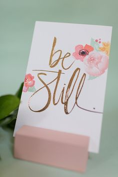 ''be still'' by Julie Song Ink for Lovely Little Details!