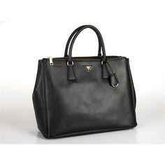 17b859989f  Prada Women Black Top Handles. Fish ♥ Fashion · prada handbags