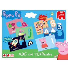 Peppa Pig A,B,C and 1,2,3 Jigsaw Puzzles image-0