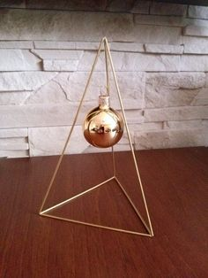 Minimalist style brass Christmas tree Himmeli - ideally suited to the Scandinavian interior.    Exceptional and unique, perfect for a gift as well as