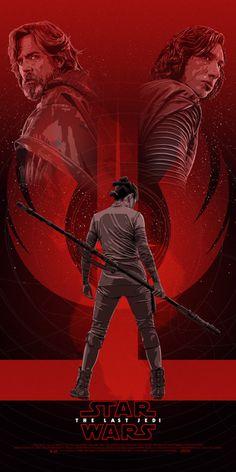 Star Wars: The Last Jedi Art by Stephen Sampson    IG