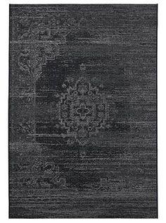 Tapis contemporain Tapis noir LINA - Saint Maclou