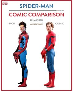 """1,947 Likes, 35 Comments - • Accurate.MCU • mcu fanpage (@accurate.mcu) on Instagram: """"• SPIDER-MAN UNMASKED - COMIC COMPARISON • Spidey, probably the most relatable character in…"""""""