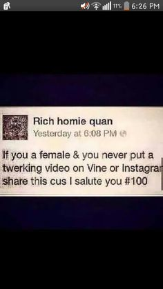 Salute to all of you females who can apply this. My respect goes out to ya'll