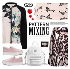 """""""Pattern Mixing - yoins 2.6"""" by cly88 ❤ liked on Polyvore featuring Diane Von Furstenberg, WearAll and NYX"""