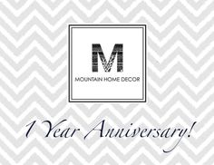 Our #homedecor blog turns 1 today! Thank you SO much to all of our amazing followers!