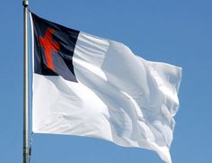Cochran (Georgia) City Council Will Hoist Christian Flag Above Courthouse, Against Attorney's Advice Christian Flag, Christian Symbols, Christian Faith, Kingdom Of Jerusalem, Freedom Of Religion, City Council, Blue Square, Lutheran, Flag Design
